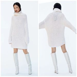 Zara Chunky Oversized Cream Sweater